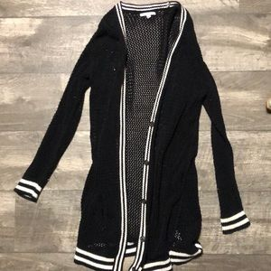 Long black American Eagle Cardigan